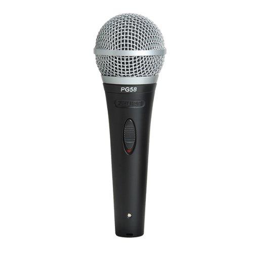 Shure PG58 - XLR microfono dinamico con custodia, cavo clip e...